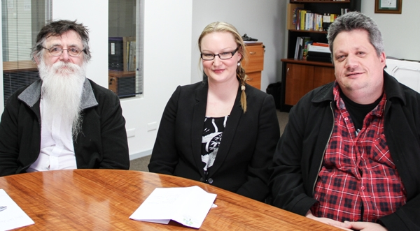 Dominic Troughton, Hannah Meurer and Bill Moon from the Victorian Mental Illness Awareness Council