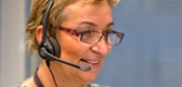 Legal help lady with headset