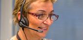 Lady wearing headset
