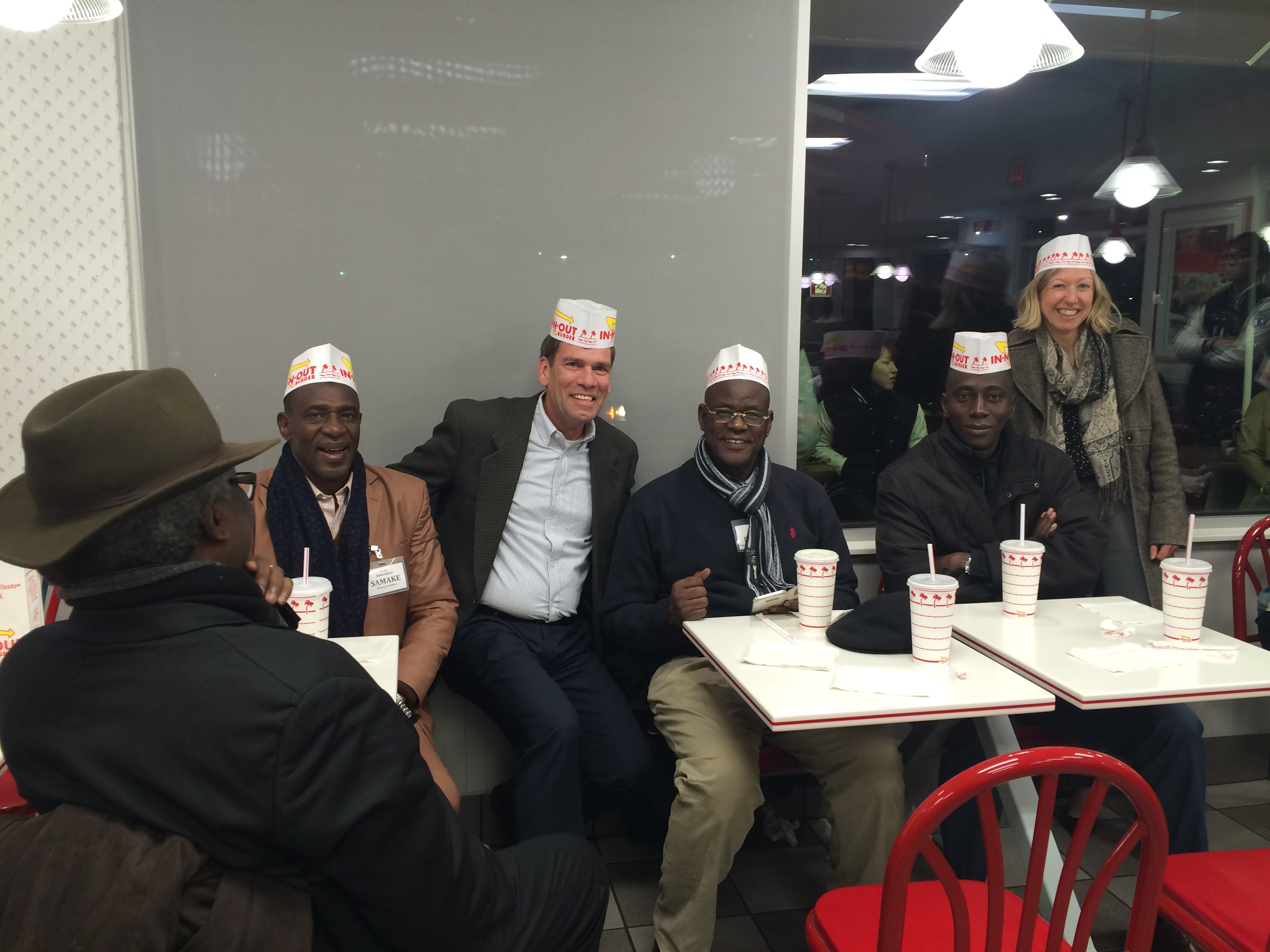 Mackay Hosting Malian Senior Officials to In-N-Out Burger in Monterey, California, January 2018