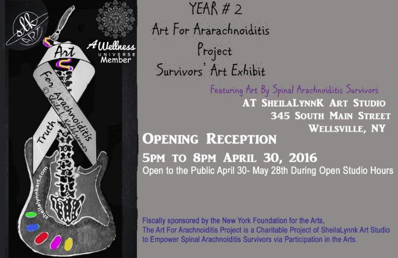Art For Arachnoiditis YEAR 2 Survivors' Exhibit Poster