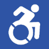 Symbol of person in a wheelchair