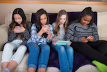 Youth using devices