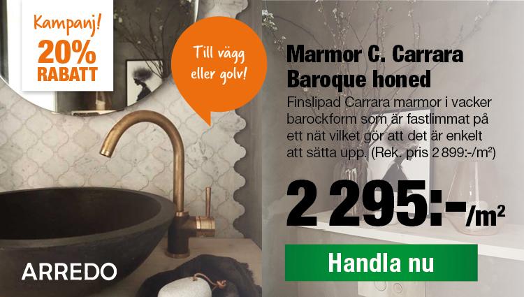 Marmor C Carrara Baroque Nu 2295:-/m2 Rek. pris 2899:-/m2