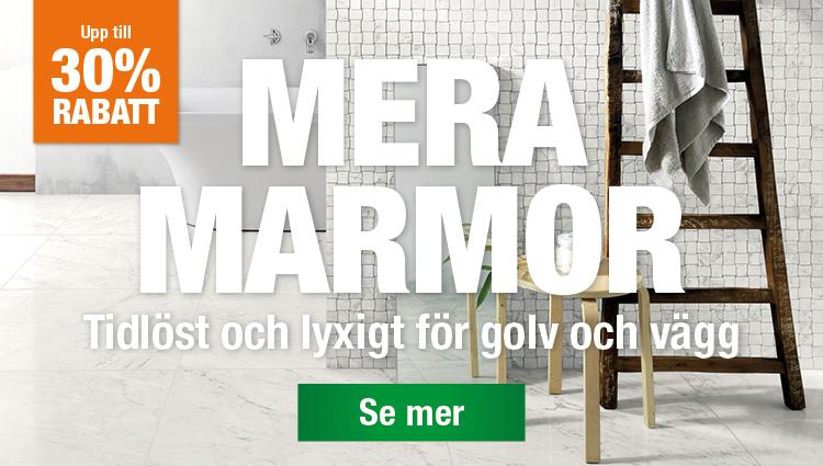 Upp till 30% rabatt på marmor