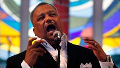 Rev. Fred Luter, pastor of the Franklin Ave. Baptist Church, delivers a sermon during Sunday Services at the Church in New Orleans, Sunday, June 3, 2012.  (AP Photo/Gerald Herbert)