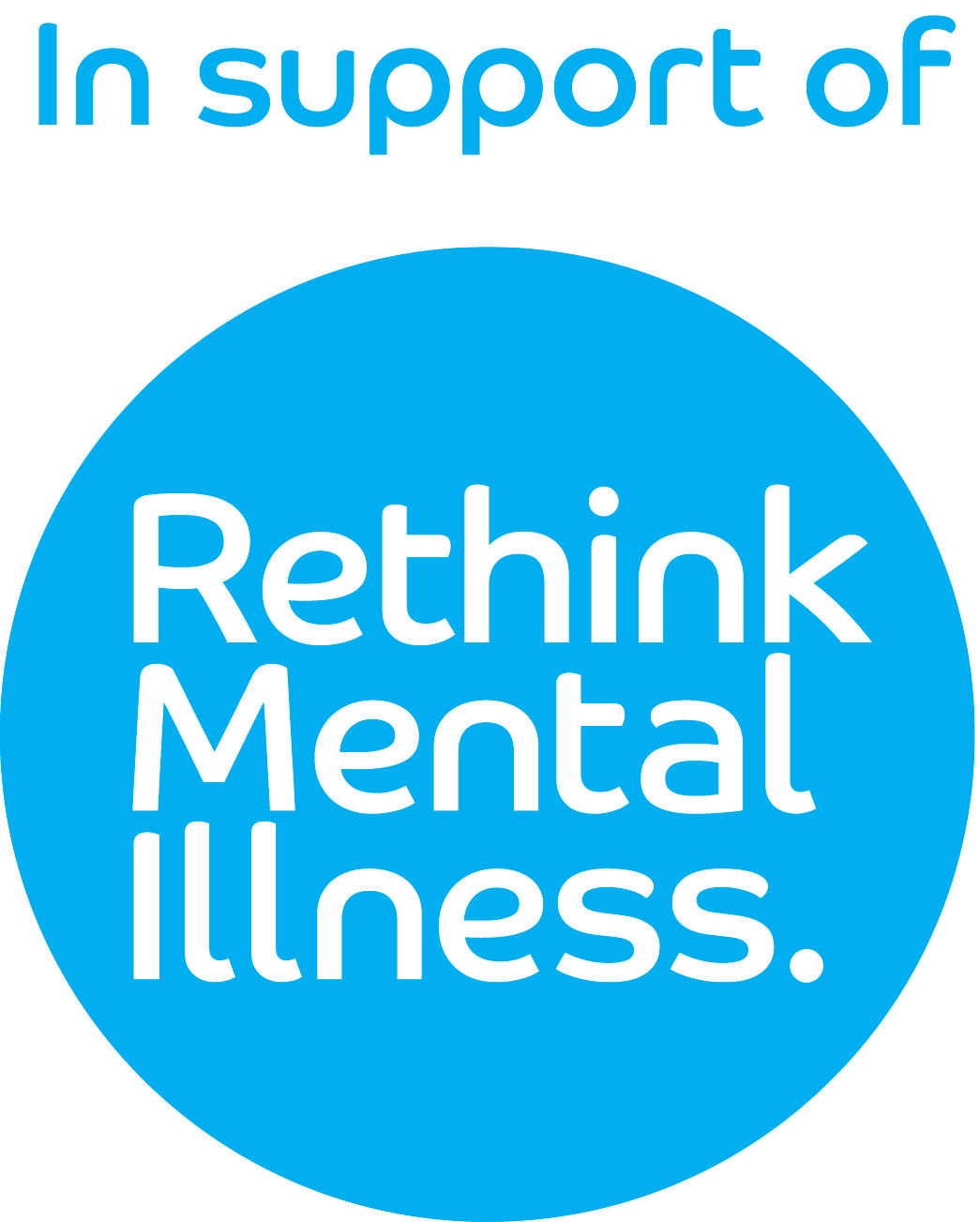 In support of Rethink Mental Illness logo
