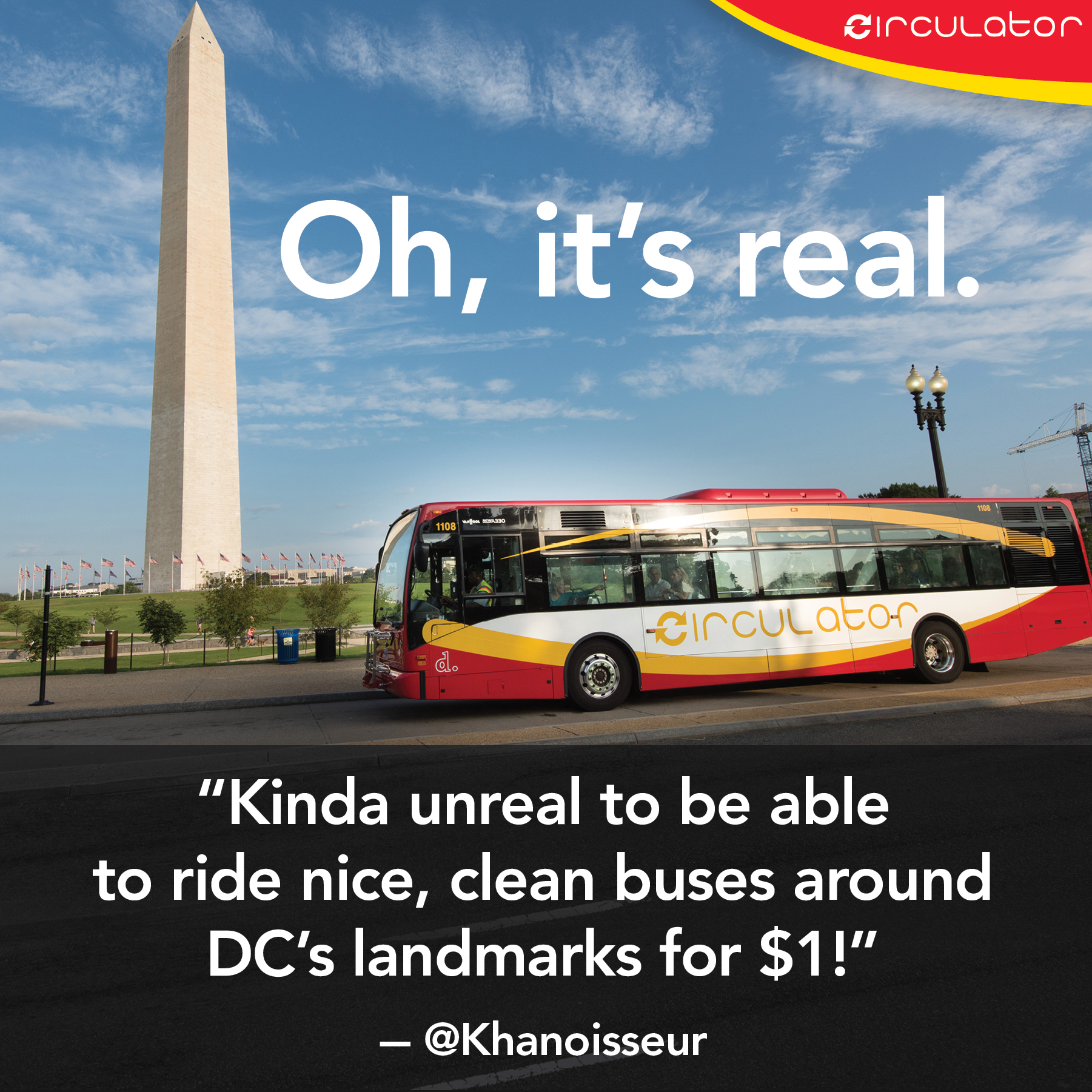 DC Circulator on the Mall? Oh it's real!