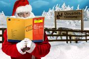 Santa with Carnet at North Pole