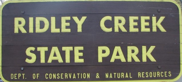 Sign of Ridley Creek State Park, Dept. of Conservation & Natural Resources