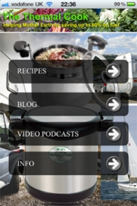The new Thermal Cook iPhone app
