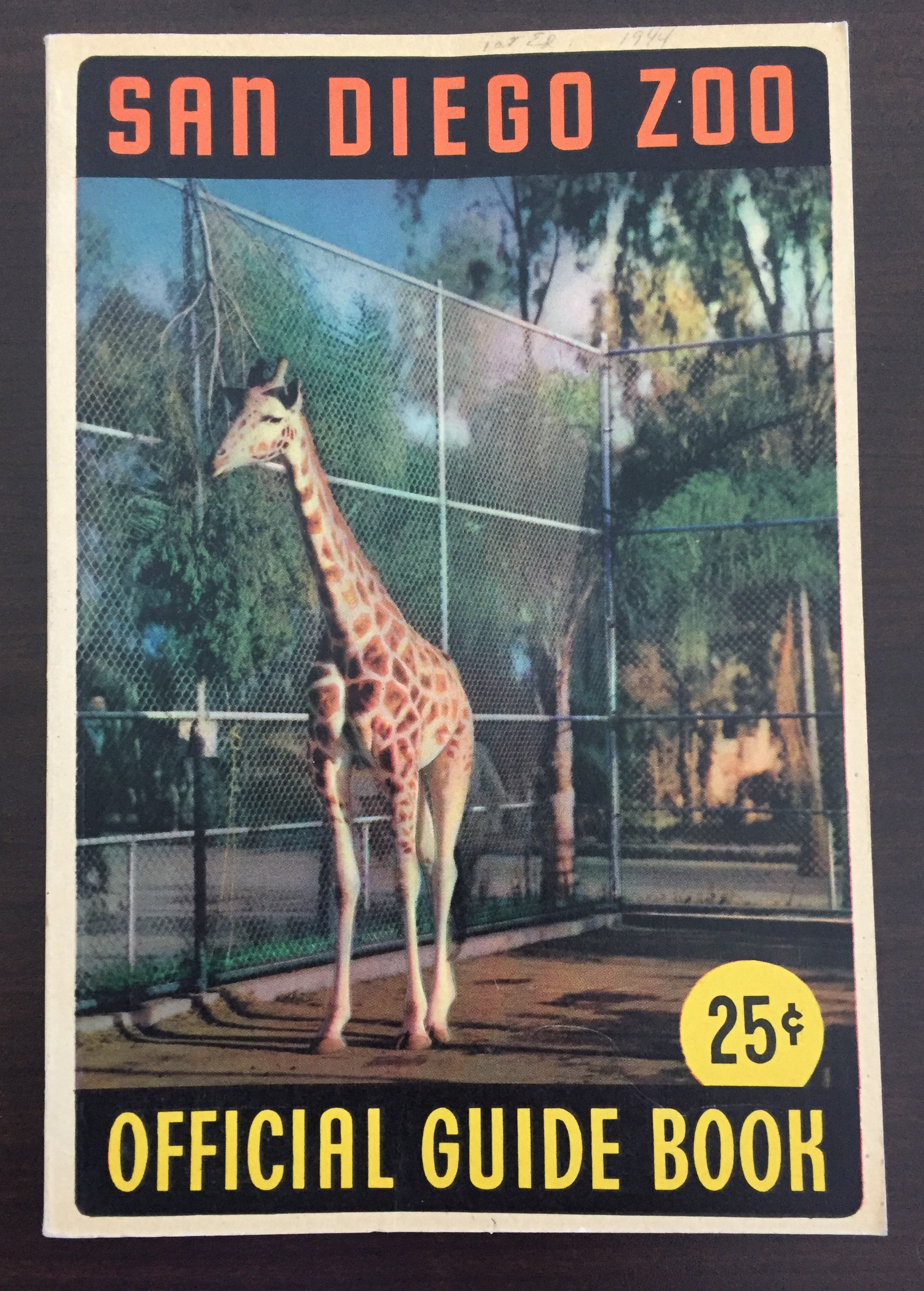 San Diego Zoo Official Guidebook 1944