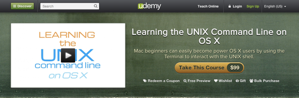 Learning the UNIX command line on OS X screencast