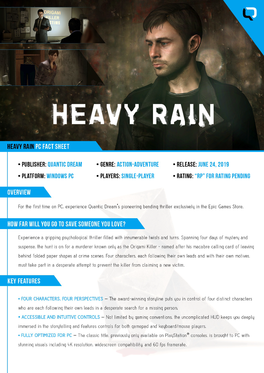 Beta aberto de Heavy Rain para PC estará disponível amanhã 4