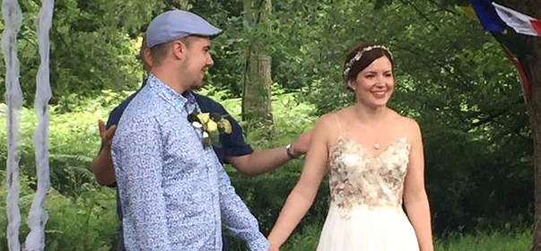 Lucy and John's wedding
