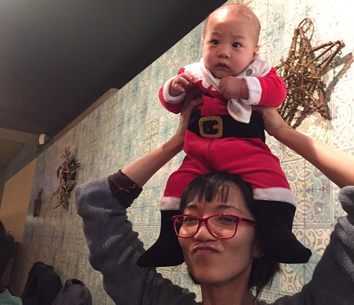 Candy and Mini Santa Josh