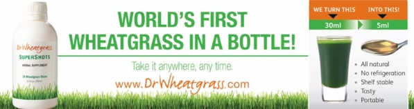 World's First Wheatgrass in a Bottle!