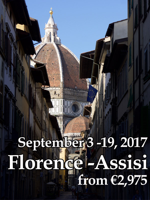 Florence to Assisi, Sept 3-19, 2017