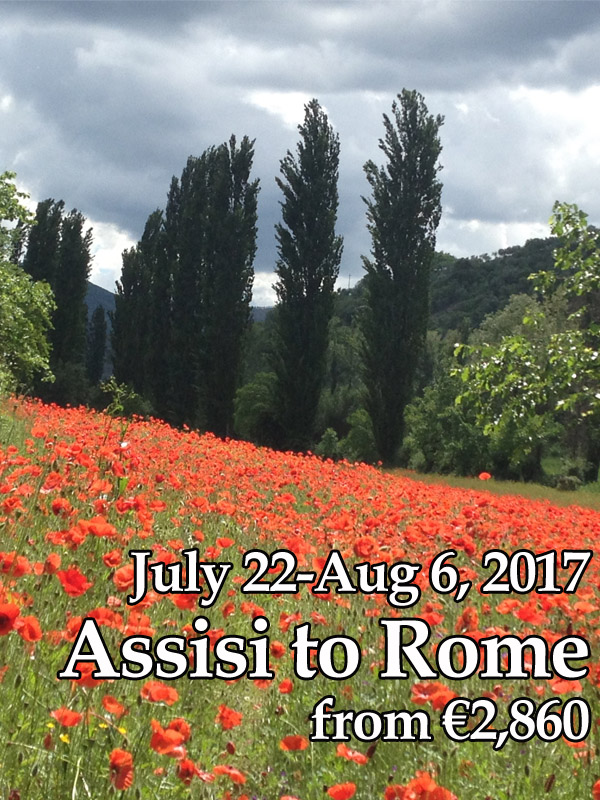 Assisi to Rome,  July 22-Aug 6, 2017