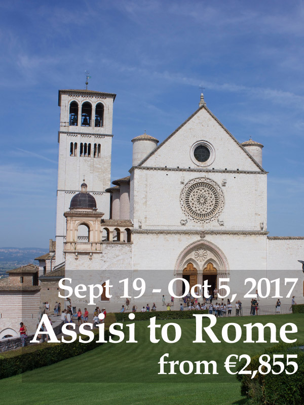 Assisi to Rome Sept 19-Oct 5, 2017