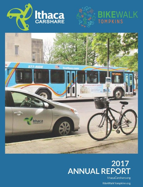 BWT & Ithaca Carshare 2017 Annual Report Cover
