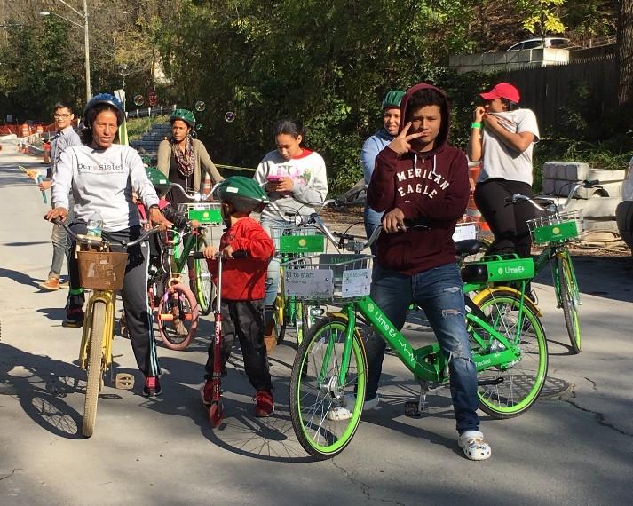 Bike ride at the Spencer Road Autumn Leaves Celebration