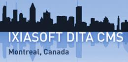 logo for IXIASOFT DITA CMS User Conference