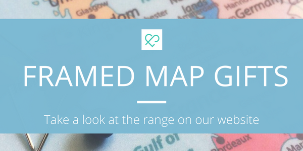 Framed Map Gifts - What will you discover