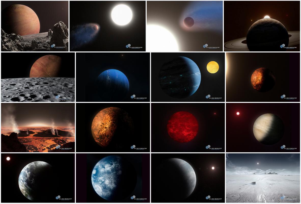 W. M. Keck Observatory Exoplanet Imaginarium