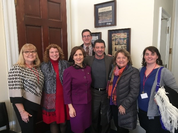 Left to right: Renee Bruce, Susannah Morgan, OFB ED, Rep. Bonamici, Jeff Sargent (tall guy in the back), Richard O'Dell, Janet Merrell, Katherine Galian