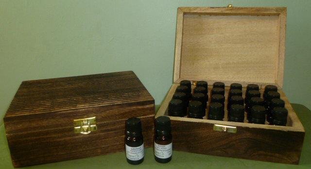 Aromatherapy Box holds 24 oils