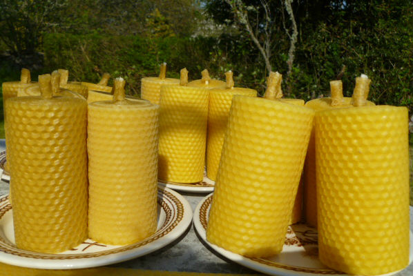 Beeswax Candles rolled in the sunshine