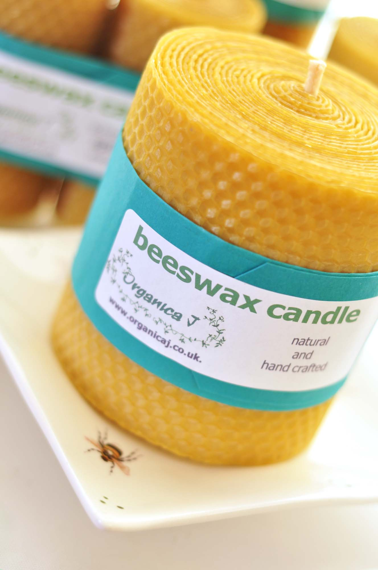 Natural hand crafted beeswax candles