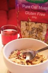 Tilquhillie Gluten Free Pure Oat Muesli with Cranberries