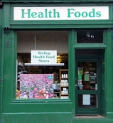 Stirling Health Food Store in central Stirling