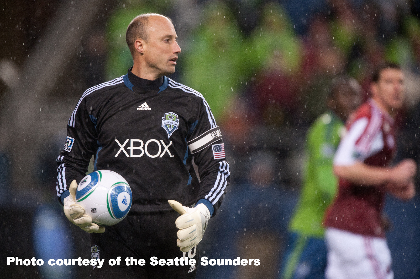 Kasey Keller during a Seattle Sounders match.