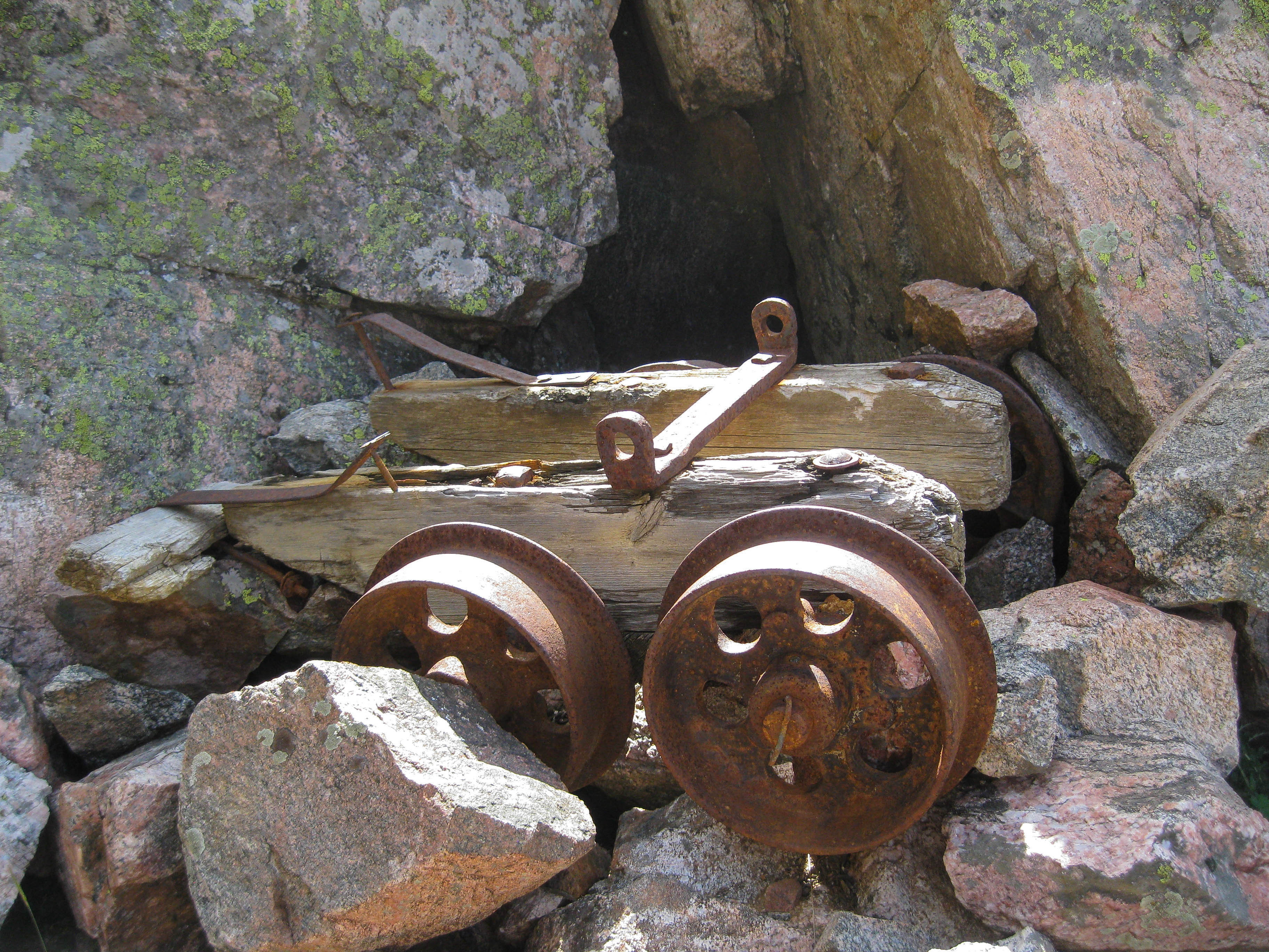 ore cart remains