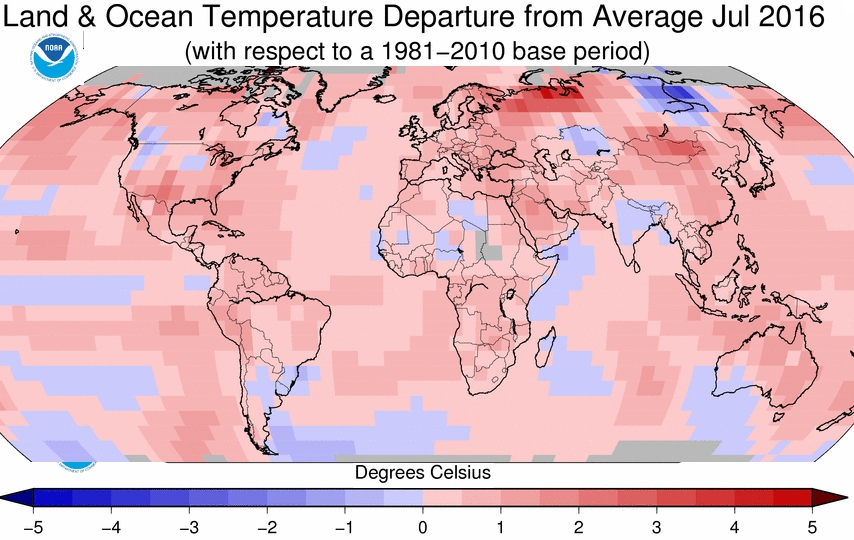 Global Temp Variation - July 2017