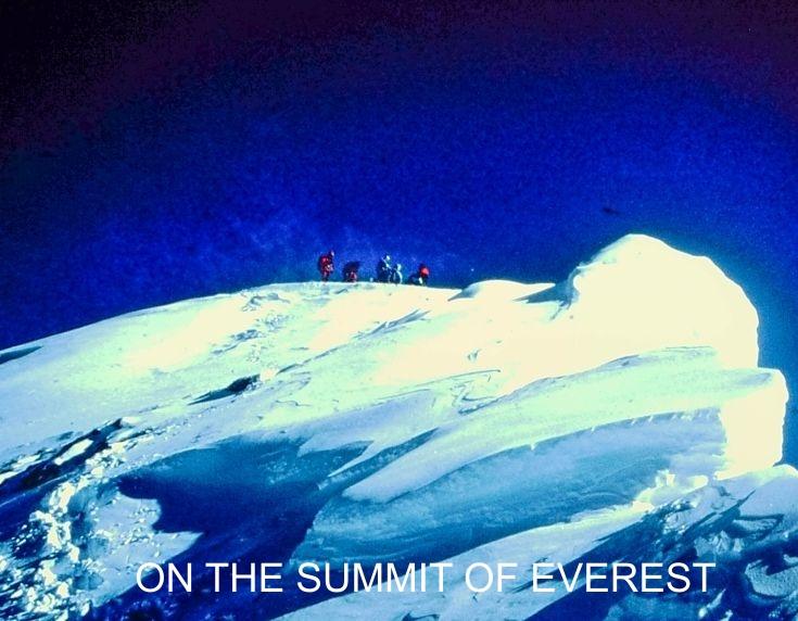 On the summit of Everest