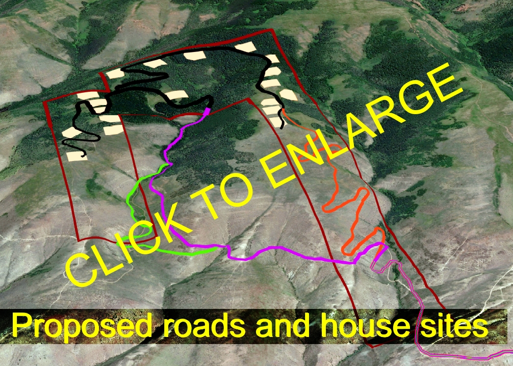 roads & house sites