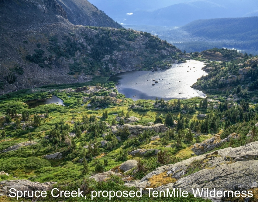 proposed TenMile Wilderness