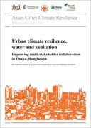 Urban climate resilience, water and sanitation