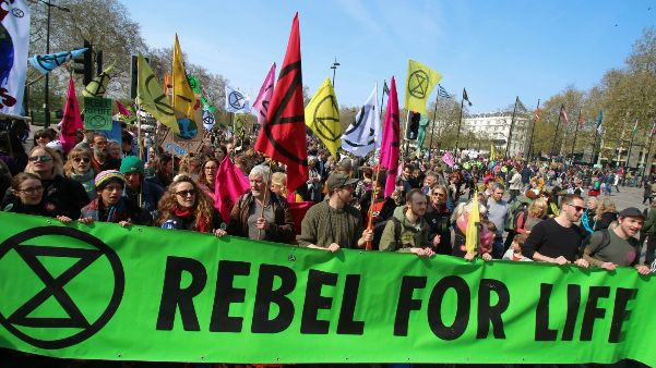 The Extinction Rebellion climate protesters marched through London and staged protests at several locations (Photo: Steve Eason, Creative Commons via Flickr)