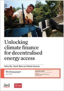 Cover of Unlocking climate finance for decentralised energy access