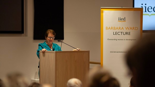 Gro Harlem Brundtland delivered the 2018 Barbara Ward Lecture (Photo: Photo by Julius Honnor/IIED)