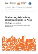 Cover of Gender analysis in building climate resilience in Da Nang