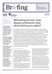 Reforming investor-state dispute settlement: what about third-party rights?