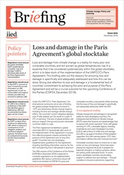 Loss and damage in the Paris Agreement's global stocktake