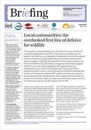Local communities: the overlooked first line of defence for wildlife