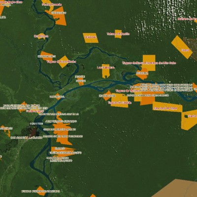 A map of indigenous peoples' territories in the Peruvian Amazon (Image: IBC Peru)